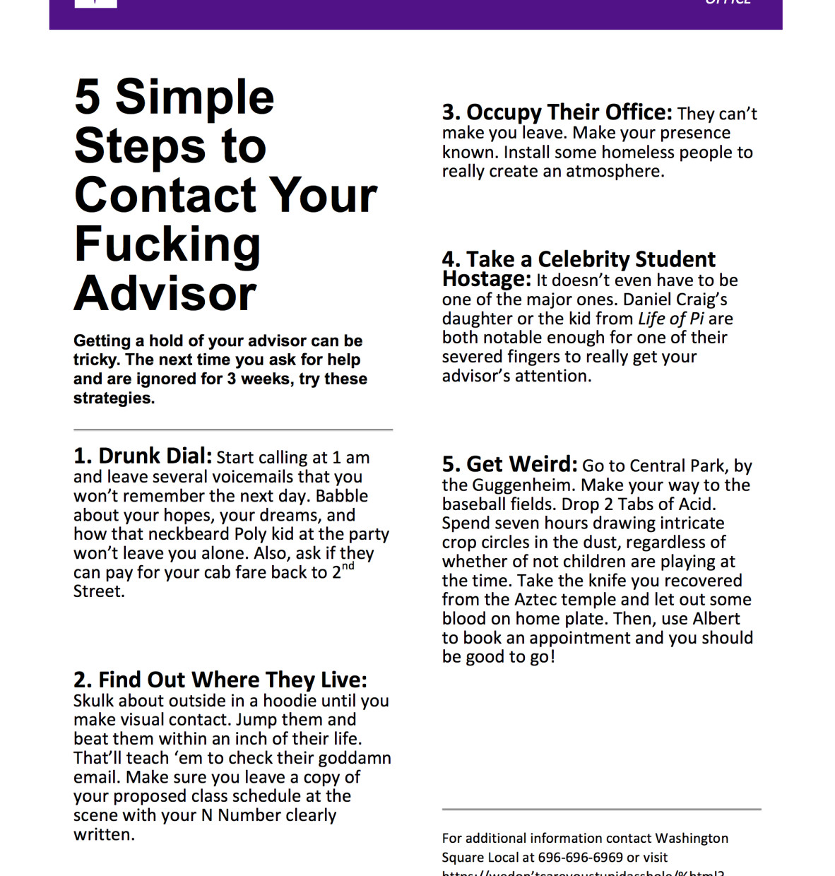 5 Simple Steps To Contact Your Fucking Advisor